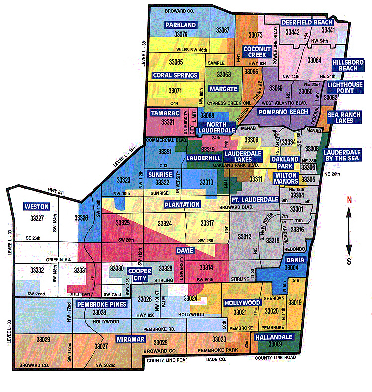 Broward county zip code map